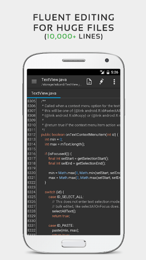 QuickEdit Text Editor Pro - Writer & Code Editor 1.5.1 Screen 1