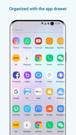 Launcher  Galaxy S10 Style 4.2 Screen 1