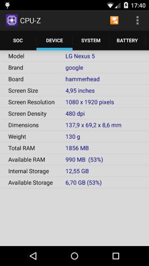 CPU-Z 1.33 Screen 1