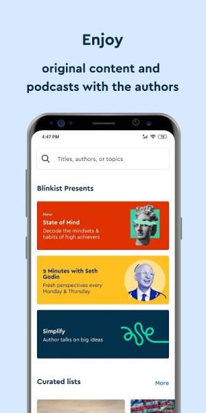 Blinkist - Nonfiction Books 8.0.0 Screen 1