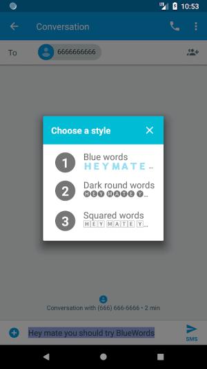 Blue Words - Stylish Fonts, Fancy Text 6.10.13 Screen 2