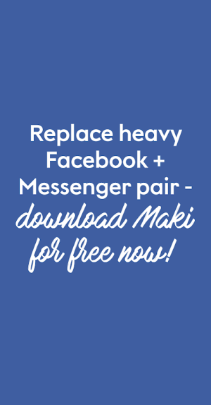 Maki Plus: Facebook and Messenger in a single app 4.0.5 Hortensia Screen 6