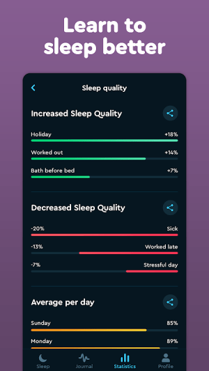Sleep Cycle: Sleep analysis & Smart alarm clock 3.9.1.4456-release Screen 5