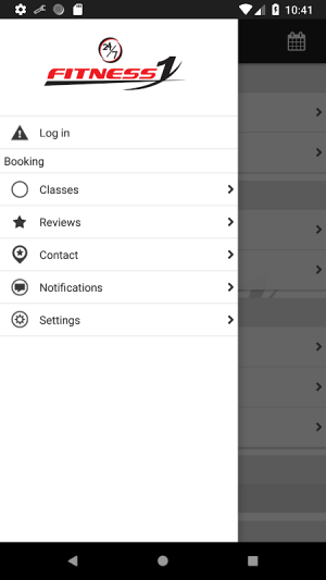 Fitness1 Clubs 4.3.3 Screen 1