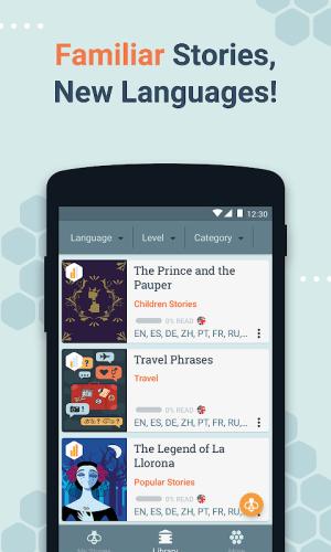 Beelinguapp: Learn Languages Music & Audiobooks 2.380 Screen 3