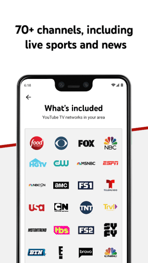Android YouTube TV - Watch & Record Live TV Screen 3