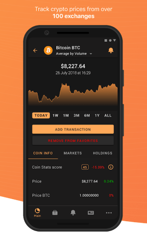 Android Coin Stats - Crypto portfolio tracker Screen 2