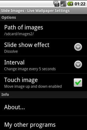 Slide Images - Live Wallpaper 1.1.2 Screen 1