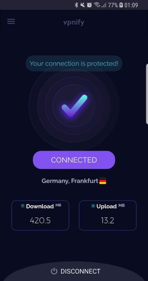 Free VPN unlimited secure hotspot proxy by vpnify 1.6.0 Screen 3