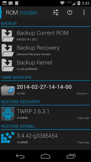 ROM Installer 1.3.4.0 Screen 3