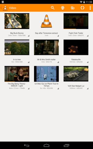 VLC for Android Beta 1.0.3 Screen 3