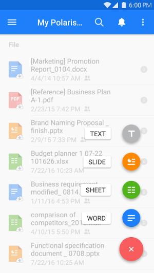 Polaris Office - Free Docs, Sheets, Slides + PDF 9.0.4 Screen 21