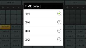 Android drum machine Screen 2