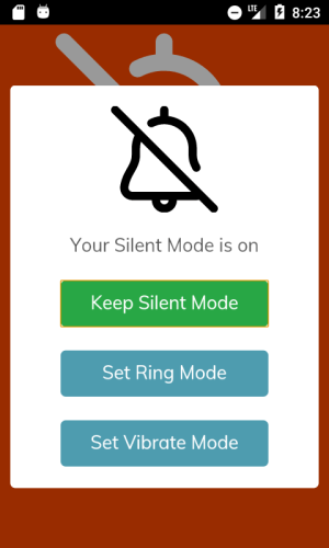 Android Silent Mode 🔕 Screen 1