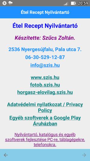 Android Étel Recept Nyilvántartó Screen 2