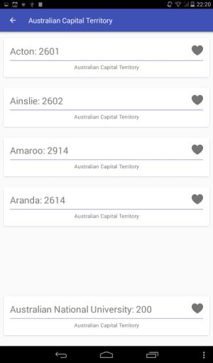 Australia Zip / Postal Code 1.0 Screen 2
