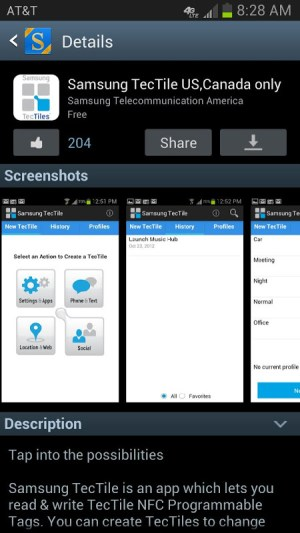 Android Galaxy Apps Screen 1