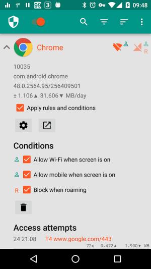 NetGuard - no-root firewall 2.289 Screen 1