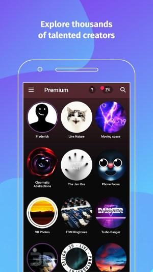 Android ZEDGE™ Wallpapers & Ringtones Screen 1