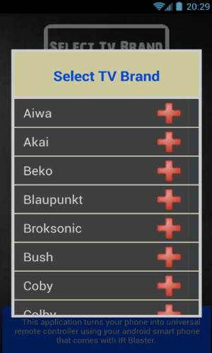 Remote Control For AllTV 1.0 snaptube Screen 1