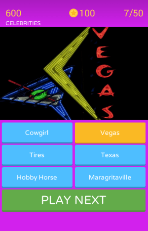 Android Scratch and guess the Neon Signs Screen 3