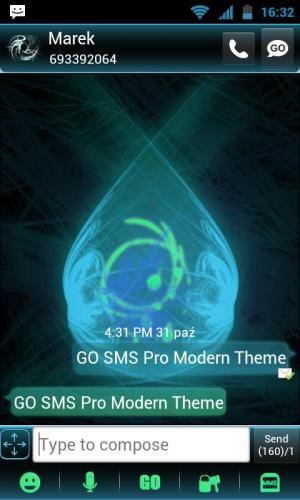 Android GO SMS Pro Modern Theme Screen 2