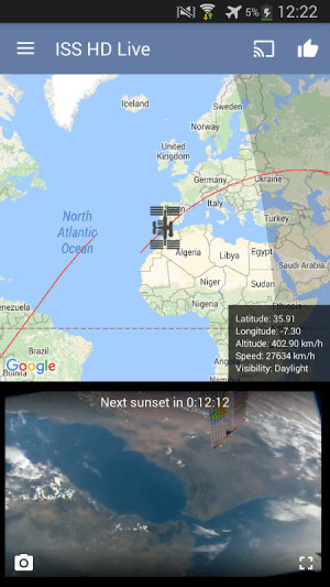ISS Live Now: Live HD Earth View and ISS Tracker 5.8.9 Screen 19