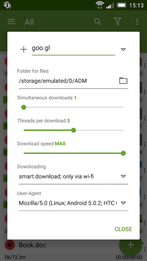 Android Advanced Download Manager Screen 10