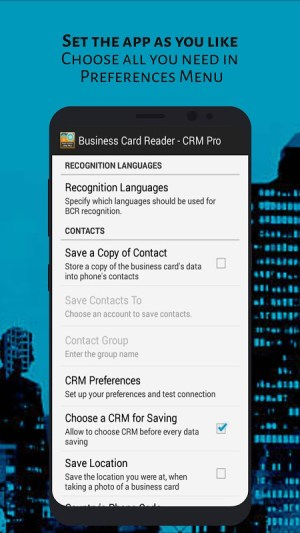 Android Business Card Reader - CRM Pro Screen 4