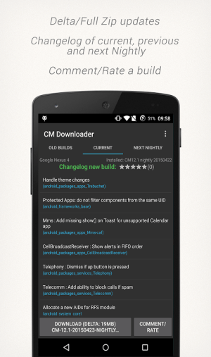CM Downloader 2.4.1 Screen 1