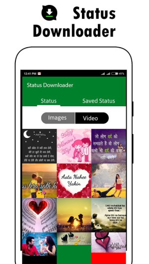 Android Status Downloader for whatsapp Screen 1