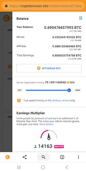 CryptoTab Browser 3.1.6 Screen 6