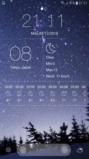 weather forecast 10.8 Screen 5