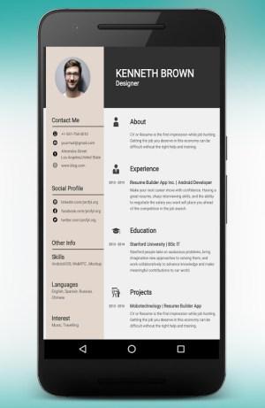 CV Maker Resume Builder PDF Template Format Editor 9.1.18.pro Screen 1