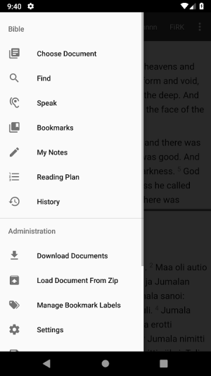 Android Bible Study app, by And Bible Open Source Project Screen 8
