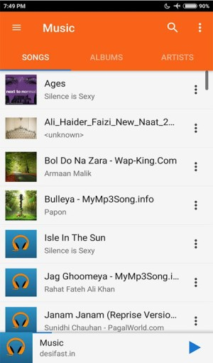 Android Music Player Screen 10