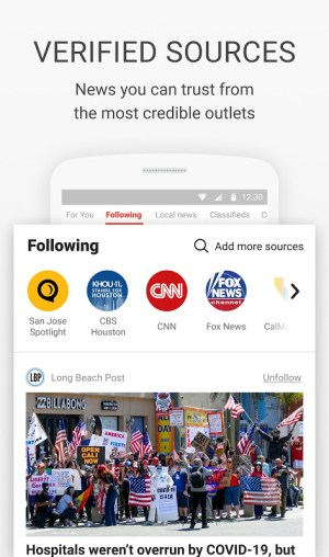 News Break:Discovering & Delivering Your Interests 8.6.4 Screen 1