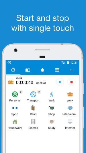 TimeTrack - Personal Tracker 1.2.18 Screen 1