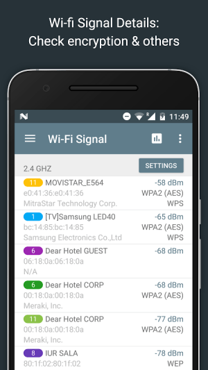 Network Analyzer Pro 2.1 Screen 1