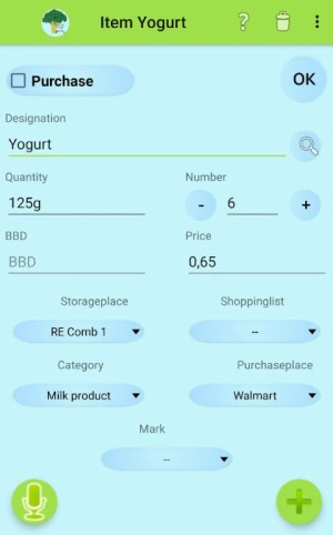 Inventory and Shopping list Manager 4.5.3 Screen 1