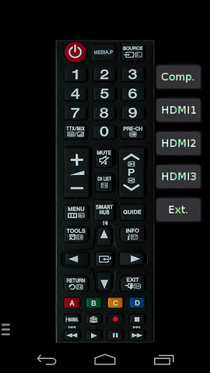 Android TV (Samsung) Remote Control Screen 4