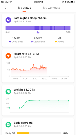 Mi Fit 3.4.6.2 Screen 1