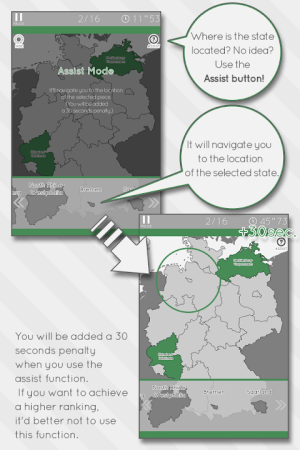 Enjoy Learning Germany Map Puzzle 3.3.1 Screen 1