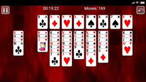 Android Miss Milligan Solitaire Screen 2