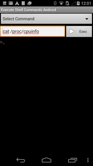 Shell Commands 1.0.3 Screen 2