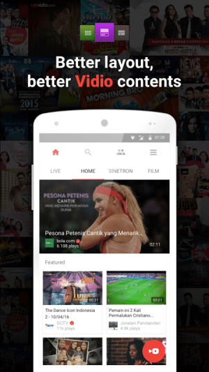vidio nonton tv video_v2.0.4 2.0.4 Screen 3