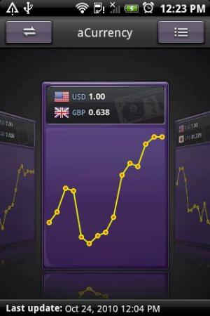 aCurrency Pro (exchange rate) 5.12 Screen 1
