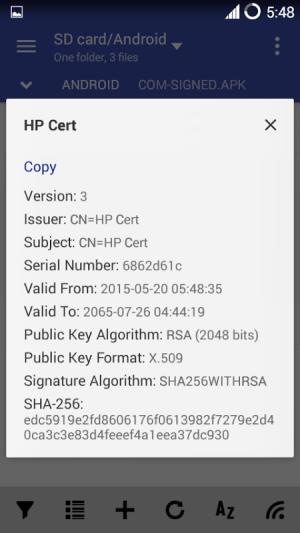 MiX Signer 1.2 Screen 6