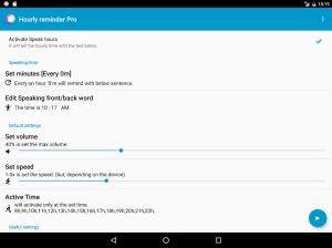 Hourly Talking Alarm Clock  Reminder Lite 2.9.8 Screen 8