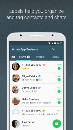 WhatsApp Business 2.20.201.13 Screen 2